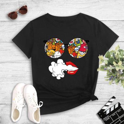 New Short-sleeved Creative Fashion Printing T-shirt NSYIC62479