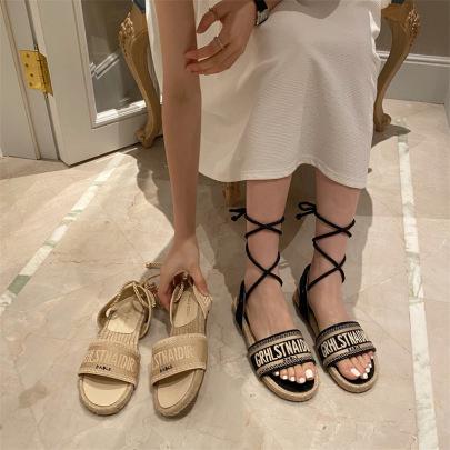 Summer Flat-bottomed New Roman Shoes NSHU62585