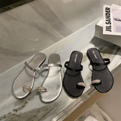 Summer New Flat-toed Beach Slippers NSHU62588