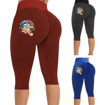 New Fashion Tight-fitting Buttocks Slimming Printed Casual Pants NSJIN62633