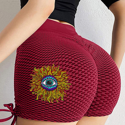 Summer Fashion Print Lace-up Stretch Hip Hot Pants NSJIN62632