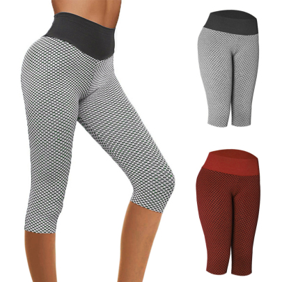New Fashion Tight-fitting Hips And Slimming Casual Cropped Trousers NSJIN62624