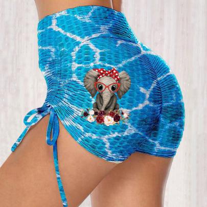 Summer Fashion Print High-waist Stretch Hip Hot Pants NSJIN62617