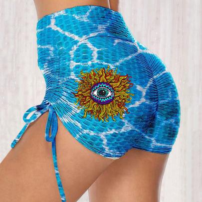 Fashion Print High-waist Stretch Hip Hot Pants NSJIN62615
