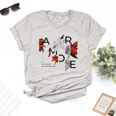Fashion Letter Printing T-shirt NSYIC62592
