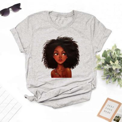 High-definition Large Size Girl Printing T-shirt NSYIC62595