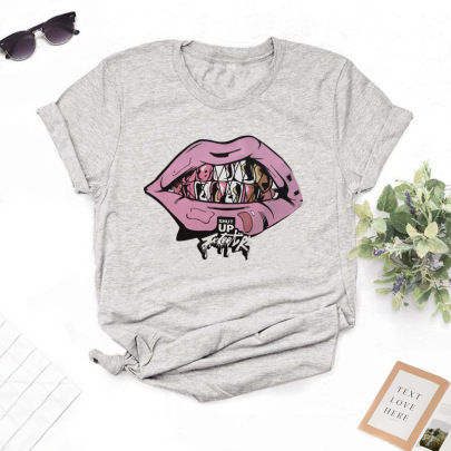 High Definition Creative Hand-painted Printed T-shirt NSYIC62596
