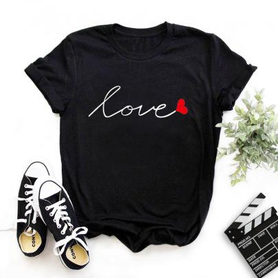 Fashion Letter Printing T-shirt NSYIC62598