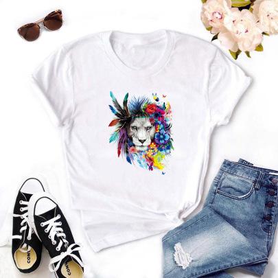 High Definition Animal Print T-shirt NSYIC62599