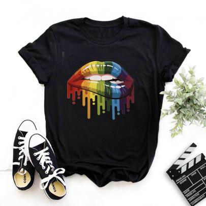 High-definition Fashion Printing T-shirt NSYIC62600