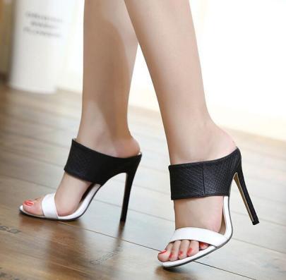 Nightclub Snake Print High-heeled Sandals NSCA62657