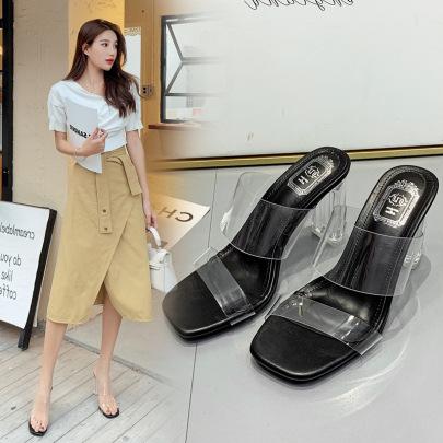 New Transparent Crystal High Heel Sandals NSCA62663