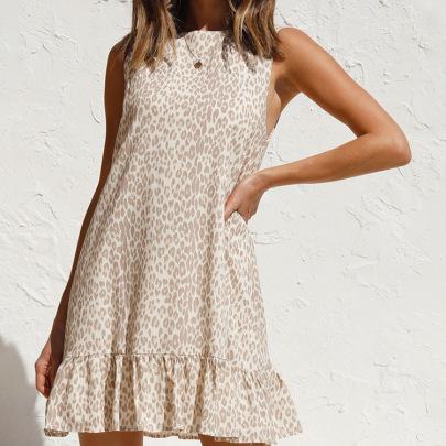 Summer Fresh Floral Sleeveless Short Ruffled Dress NSHHF62716