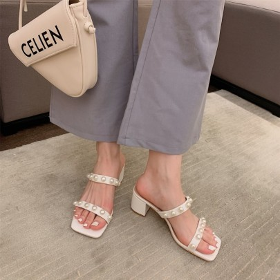 Fashion Pearl Open-toed Sandals NSHU62766