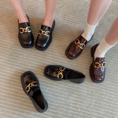 Spring And Autumn New Mary Jane Small Leather Shoes NSHU62790