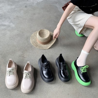 Autumn And Winter New Thick-soled Lace-up Shoes NSHU62794