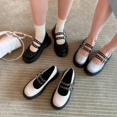 New Autumn Platform Buckle Fashion Mary Jane Shoes NSHU62809