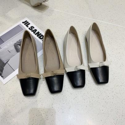 Mary Jane Bow Low-heeled Shoes  NSHU62813