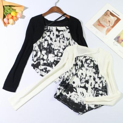 Square Neck Slimming Irregular Long-sleeved Shirt NSYID62824