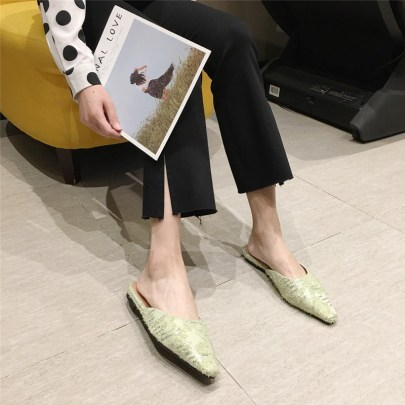 Sequined Decor Pointed Flats NSHU62864