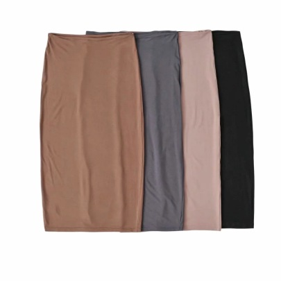 New High Waist Elastic Tight-fitting Thin Skirt NSAC62909