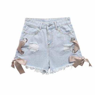 Sexy Thin Wide-leg Denim Shorts NSAC62914