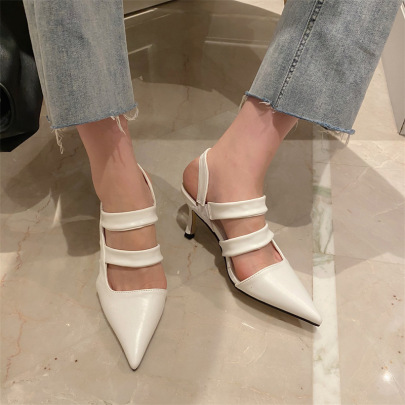 Fashion Hollow Pointede Heeled Sandals NSCA62928