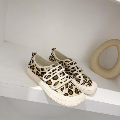 Retro Leopard Printed Square Toe Flats NSCA62945