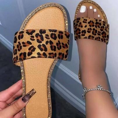 Flat Open Toe Slippers NSYUS63070