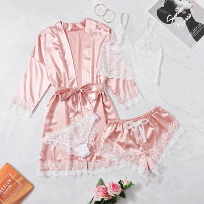 New Sexy Satin Lace Five-piece Underwear NSYO62953
