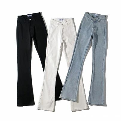 V-waist Retro High Waist Bootcut Trousers NSAC62998