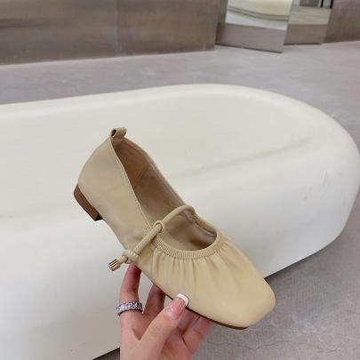 Summer Summer Mid-heeled Retro Mary Jane Shoes NSCA63040