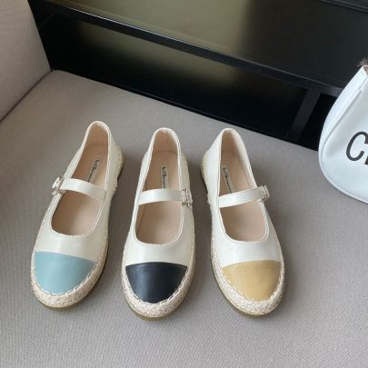 Small Leather Flat Retro Mary Jane Shoes NSCA63044