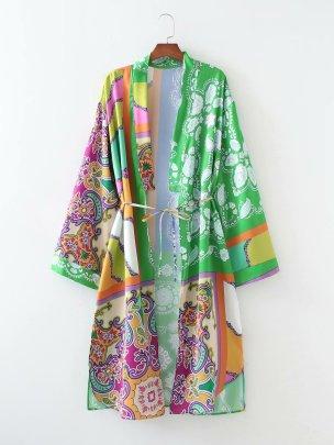 Wholesale Retro Fashion Lapel Long Sleeve Bow Tie Patchwork Dress NSAM63102