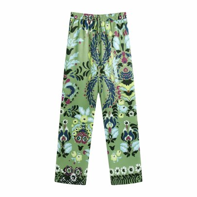 Wholesale Summer Printing Drape Pants NSAM63104
