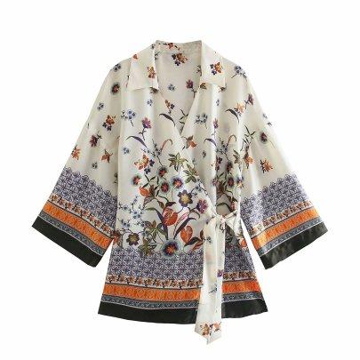 Wholesale Summer Printed Long Shirt  NSAM63113