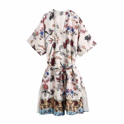 Wholesale Summer Printed Kimono Dress NSAM63114