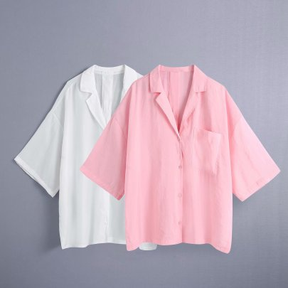Wholesale Summer Drape Loose Shirt Top NSAM63120