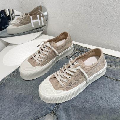 Platform Lace-up Lace Big Toe Shoes NSYUS63149