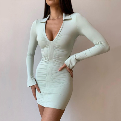 Summer New Long Sleeve Fashion Tight Skirt NSFD63199