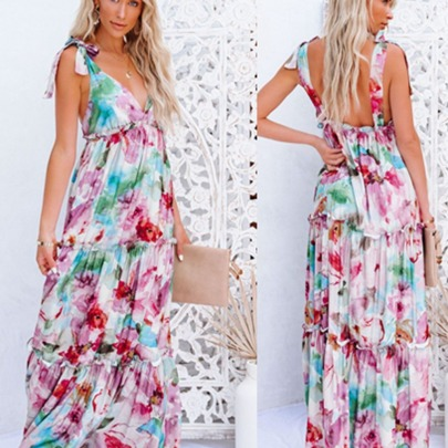 New Tie-dye Printing Big Swing Dress NSYD63313