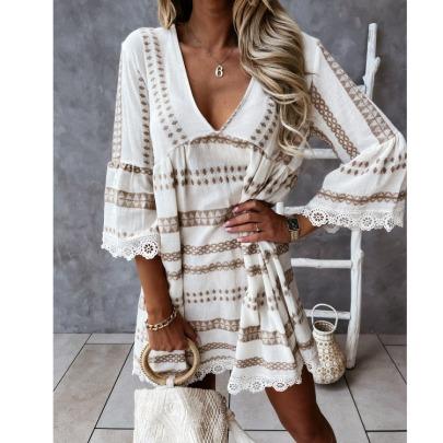 New Lace Cuff Dress NSYD60330