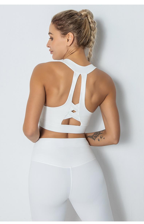 cross beautiful back fitness shockproof running sports bra NSLUT60657