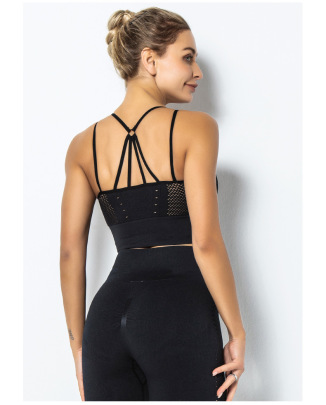 Lace-up Beautiful Back Jacquard Hollow Sports Underwear NSLUT60539