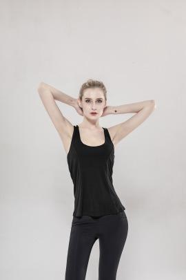 Beautiful Back Sports Hanging Wide Loose Yoga Top NSLUT60535