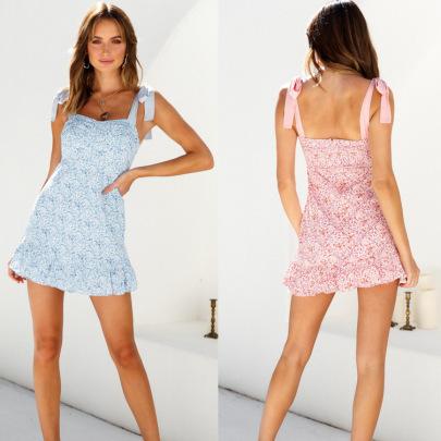 Summer New Style Suspender Printed Dress NSYD60347