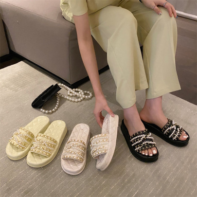 Summer Chain Thick-soled Slippers NSHU60381