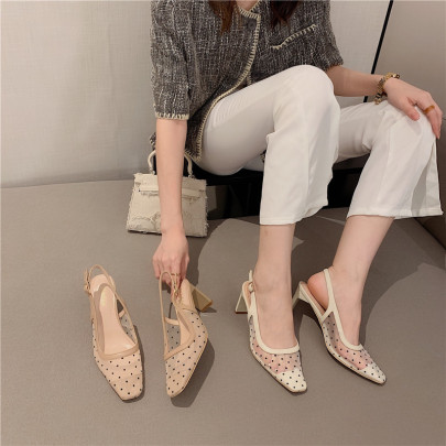Summer New Square Toe High-heeled Shoes NSHU60382