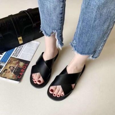 Summer Flat Bottom New Simple Cross Shoes Sandals NSHU60388