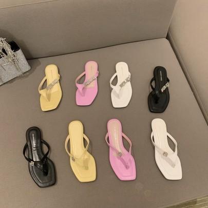 New Summer Square Toe Open Toe Roman Sandals NSHU60398